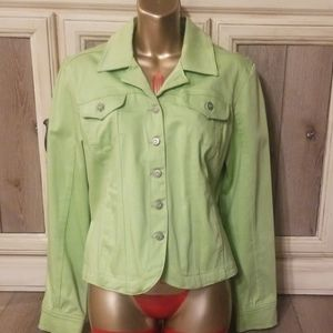LIVE A LITTLE Green Jean Jacket P/L (s20)